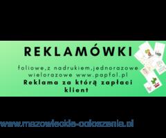 Reklamówki jednorazowe z logo firmowym