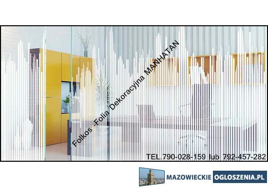 OKlejanie szyb -folie okienne Grodzisk Mazowiecki- Folkos folie okienne  -Mat mleczny, mat mrożony